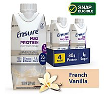 Ensure Max Protein Nutrition Shake Ready To Drink French Vanilla - 4-11 Fl. Oz.