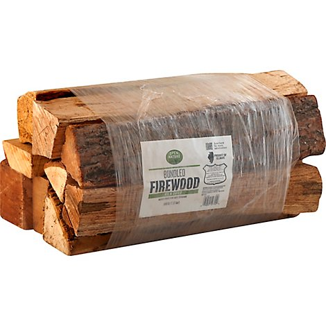 Open Nature Firewood Bundled Kiln Dried 0.60 Cu. Ft. - Each