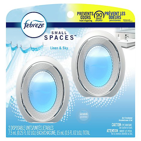 Febreze Small Spaces Air Freshener Linen & Sky - 2-0.25 Fl. Oz.