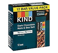 KIND Bar Nuts & Spices Dark Chocolate & Sea Salt - 12-1.4 Oz