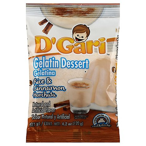 Dgari Gelatin Dessert Rice And Cinnamon - 4.2 Oz