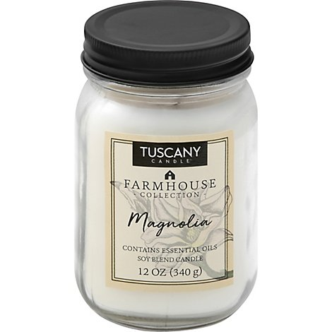 Tuscany Candle Farmhouse Collection Candle Soy Blend Magnolia - 12 Oz