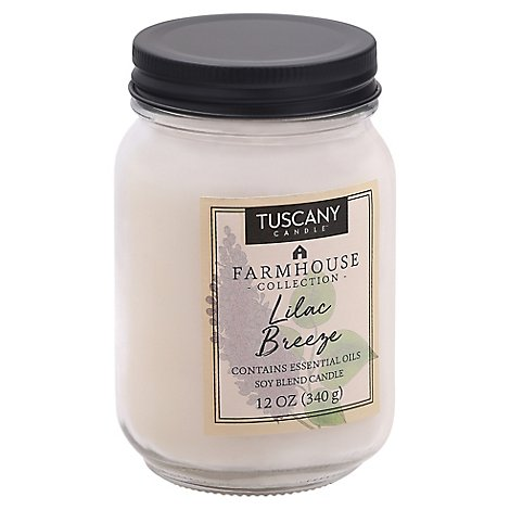 Tuscany Candle Farmhouse Collection Candle Soy Blend Lilac Breeze - 12 Oz