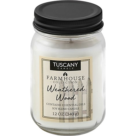 Tuscany Candle Farmhouse Collection Candle Soy Blend Weathered Wood - 12 Oz