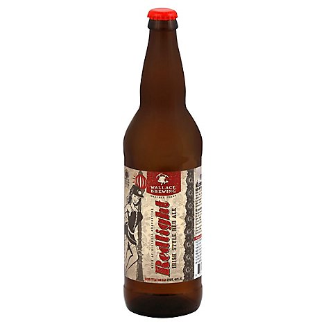 Wallace Brewing Redlight Beer Ale Irish Style Red Bottle - 22 Fl. Oz.