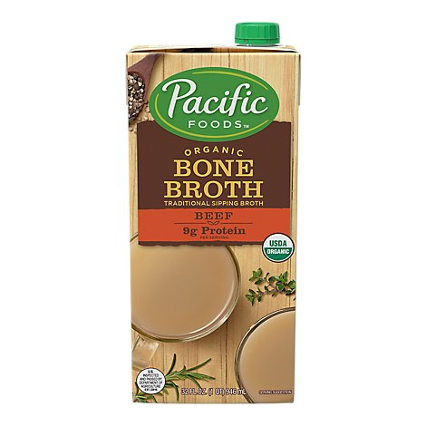Pacific Foods Bone Broth Organic Beef - 32 Fl. Oz.
