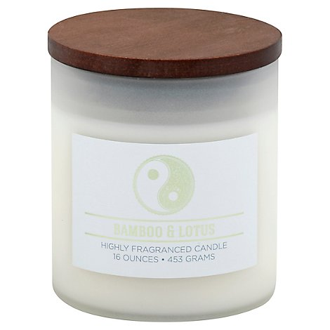 Wellness Candle Highly Fragranced Bamboo & Lotus - 16 Oz