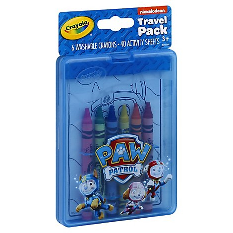 Crayola Travel Pack Crayons And Activity Sheets Paw Patrol - Each