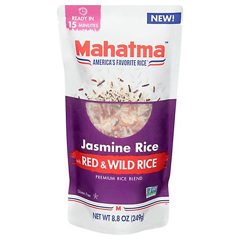 Mahatma Jasmine Red Rice & Wild Rice - 8.8 Oz