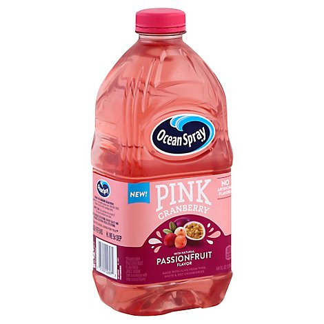 Ocean Spray Juice Drink Pink Cranberry Passionfruit - 64 Fl. Oz.