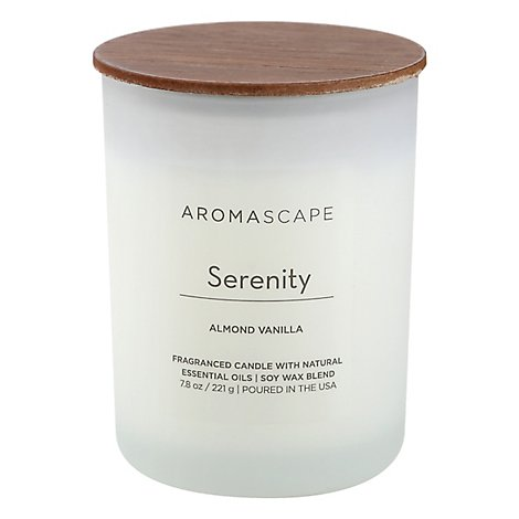Chesapeake Bay Aromascape Candle Serenity Almond Vanilla 7.8 Ounce - Each