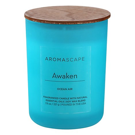 Chesapeake Bay Aromascape Candle Awaken Ocean Air 7.8 Ounce - Each