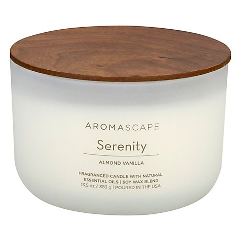 Chesapeake Bay Aromascape Candle Serenity Almond Vanilla 13.5 Ounce - Each
