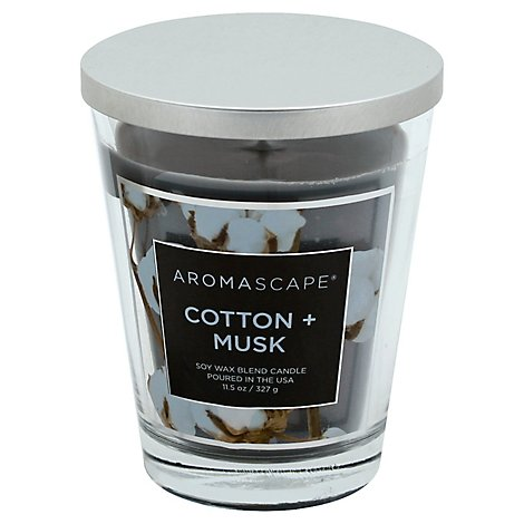 Chesapeake Bay Aromascape Candle Cotton + Musk 11.5 Ounce - Each