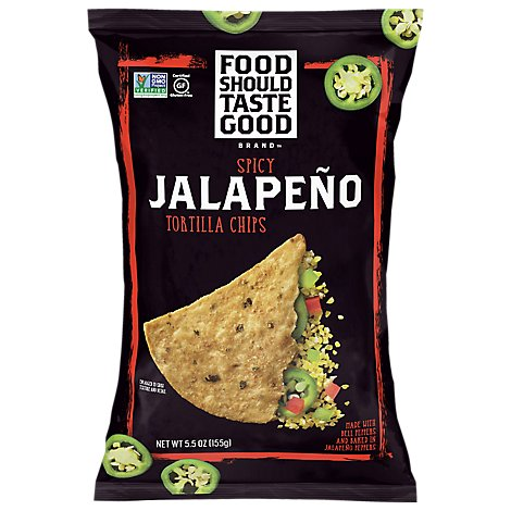 Food Should Taste Good Tortilla Chips Jalapeno - 5.5 Oz