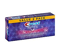Crest 3D White Toothpaste Fluoride Anticavity Whitening Radiant Mint - 2-4.1 Oz