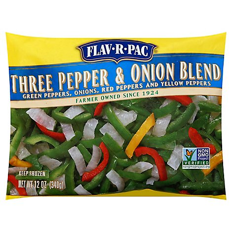 Flav R Pac Three Pepper And Onion Blend - 12 Oz