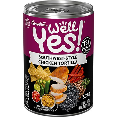 Campbells Well Yes Soup Chicken Tortilla - 16.3 Oz