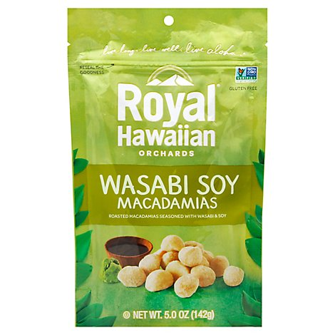 Royal Hawaiian Orchards Macadamias Wasabi Soy - 4 Oz