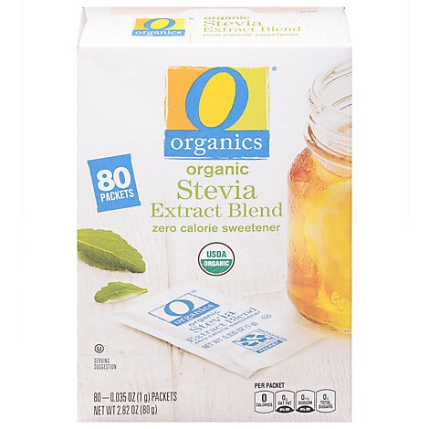 O Organics Sweetener Stevia Packets - 80  Count
