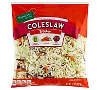Signature Farms Three Color Cole Slaw - 14 Oz