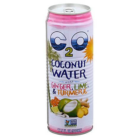 C2O Coconut Water With Ginger Lime And Turmeric - 17.5 Fl. Oz.