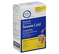 Signature Care Severe Cold Green Tea & Honey Lemon - 6 Count