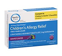 Signature Care Allergy Relief Child Grape Chewable Tab - 20 Count