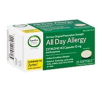 Signature Care Allergy Cetirizine Softgels 10mg - 25 Count