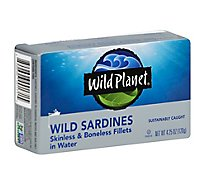 Wild Planet Sardines Skinless & Boneless Fillets In Water - 4.25 Oz