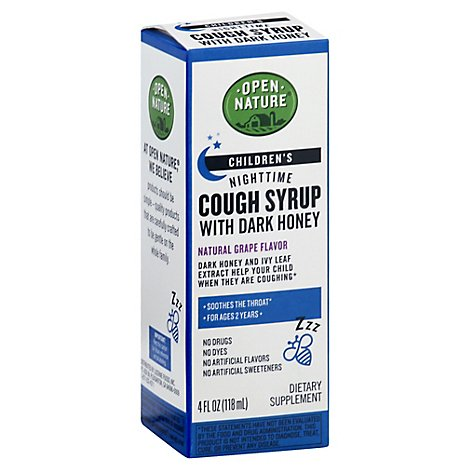 Open Nature Childrens Nighttime Cough Syrup - 4 Fl. Oz.