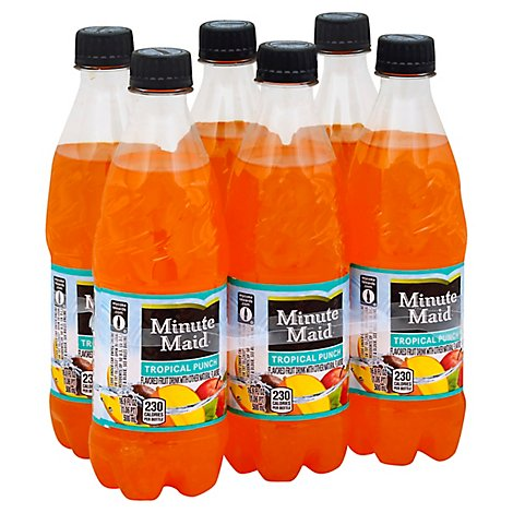 Minute Maid Fruit Drink Tropical Punch - 6-16.9 Fl. Oz.