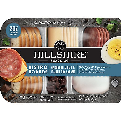 Hillshire Snacking Bistro Boards Hardboiled Egg & Italian Dry Salame - 5.32 Oz