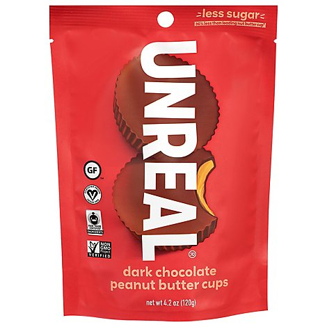 Unreal Peanut Butter Cups Dark Chocolate - 4.2 Oz