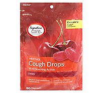 Signature Care Cough Drops Menthol Cherry Vp - 80 Count