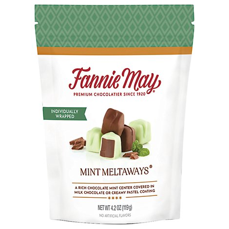 Fannie May Mint Meltaways Chocolate - 4.2 Oz