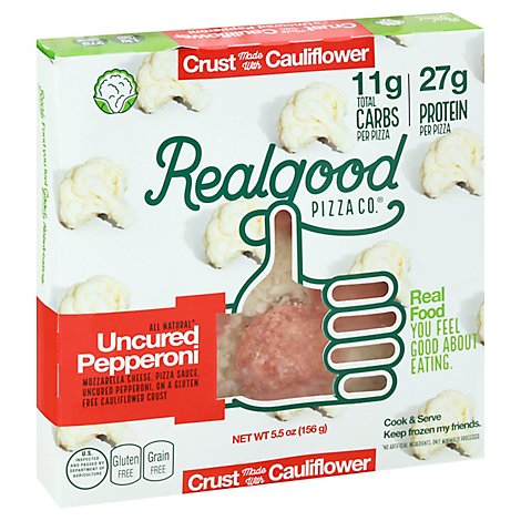 The Real Good Food Co Personal Cauliflower Pepperoni Pizza - 5.5 Oz
