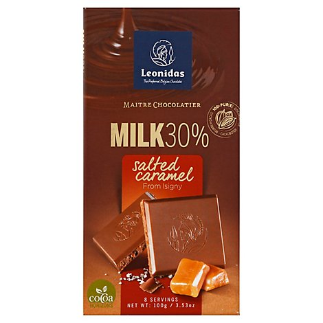 Leonidas Bar Choc Milk Sltd Crml - 3.53 Oz