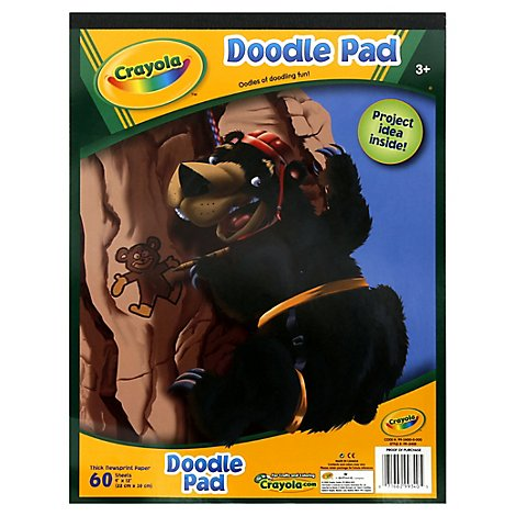 Crayola Doodle Pad 9x12 Inch 60 Sheets - Each