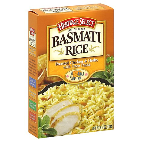 Heritage Select Basmati Rice Roasted Chicken & Herbs With Orzo Pasta - 6.5 Oz