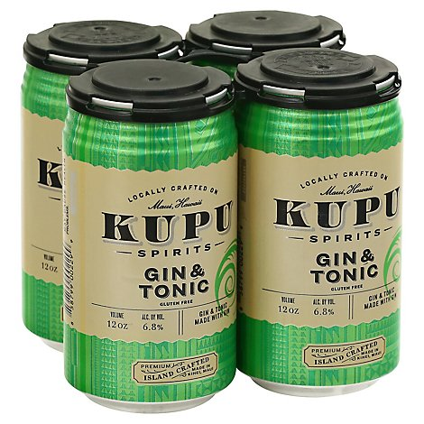 Kupu Spirits 4pk Can Gin And Tonic - 4-12 Fl. Oz.