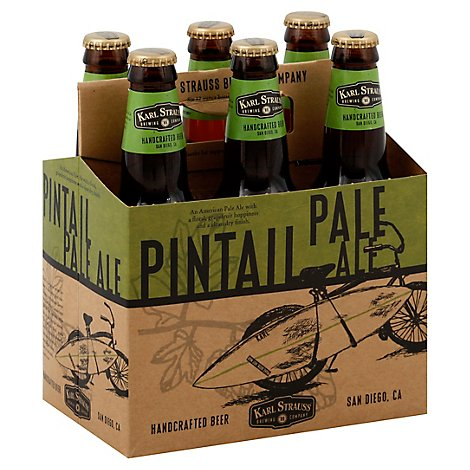 Karl Strauss Pintail Beer Handcrafted Pale Ale Bottles - 6-12 Fl. Oz.