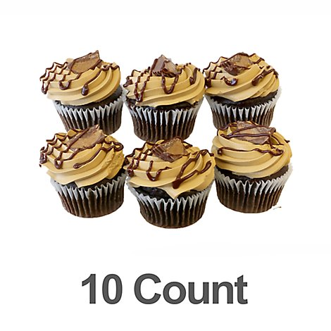 Cupcakes Peanut Butter Chocolate 10ct