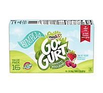 Yoplait Go Gurt Yogurt Low Fat Strawberry & Mixed Berry - 16-2 Oz