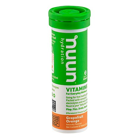 Nuun Vitamins Hydration Tablets Grapefruit Orange - 12 Count