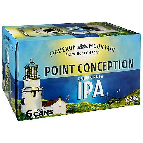 Figueroa Mountain Point Conception Ipa In Cans - 6-12 Fl. Oz.