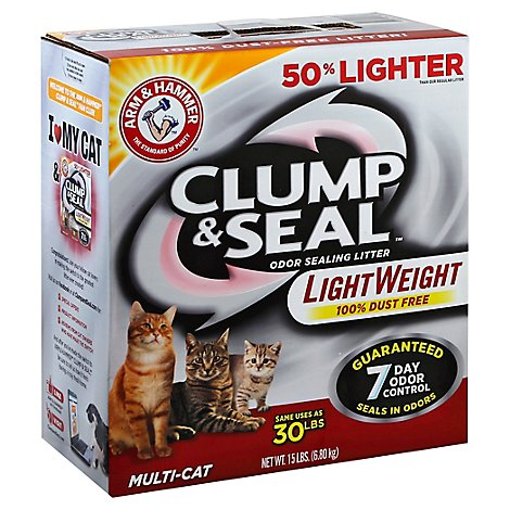 ARM & HAMMER Clump & Seal Cat Litter Light Weight Multi Cat - 15 Lb