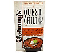 Johnnys Fine Foods Mix Queso Chili - 7.76 Oz