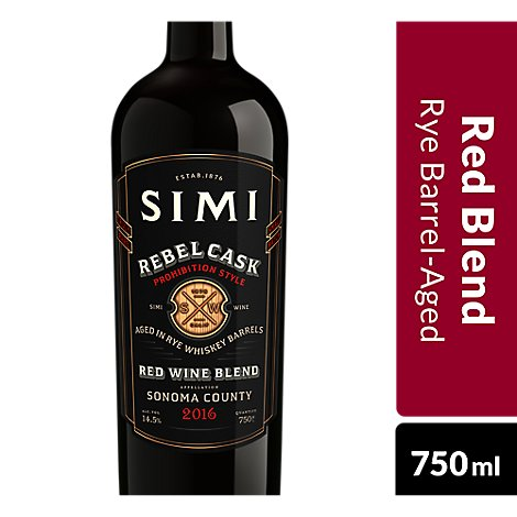 SIMI Wine Red Blend Rebel Cask Sonoma County - 750 Ml