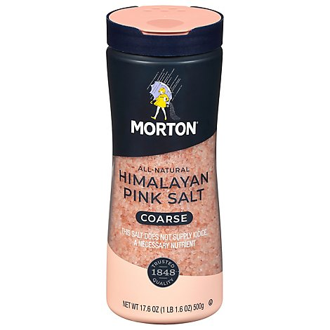 Morton Salt Himalayan Pink Coarse All Natural - 17.6 Oz